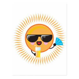 Kawaii Sun Cartão Postal