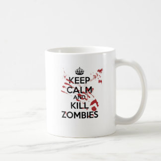 Keep Calm and Kill Zombies Canecas