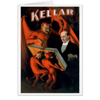 """Kellar - """"cartão das instruções do diabo"""" cartão comemorativo"""