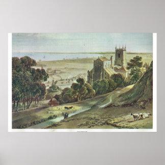 Kent histórico, Hythe, na borda de Romney Marshe Pôsteres