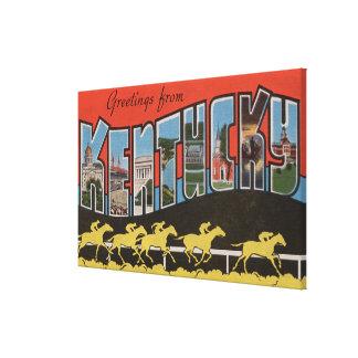 Kentucky (cena) da corrida de cavalos - grande cen impressão em canvas