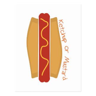 Ketchup ou mostarda cartão postal