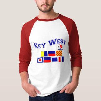 Key West com bandeiras marítimas Camisetas