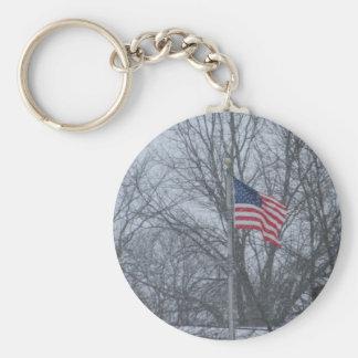 Keycain da bandeira dos EUA Chaveiro