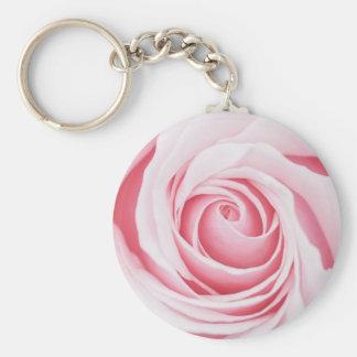 Keyring da flor do rosa do rosa chaveiro