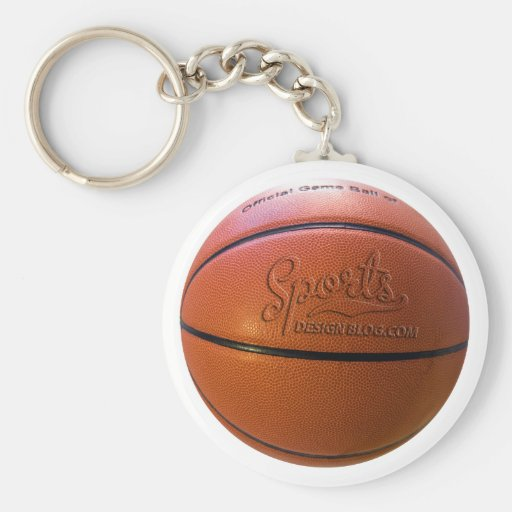 Keyring do basquetebol do blogue do design dos esp chaveiros