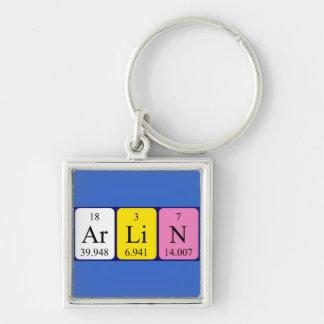 Keyring do nome da mesa periódica de Arlin Chaveiros