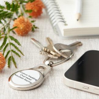 Keyring oval do chaveiro do metal do casamento