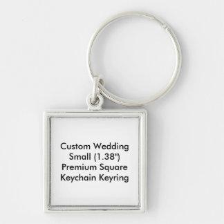 Keyring quadrados pequeno do chaveiro do casamento