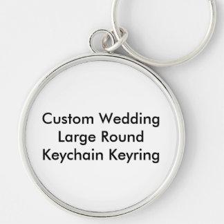 Keyring redondo do chaveiro do casamento feito sob