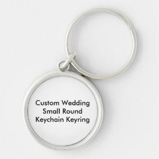 Keyring redondo pequeno do chaveiro do casamento