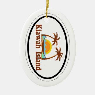 Kiawah Island. Ornamento De Cerâmica Oval