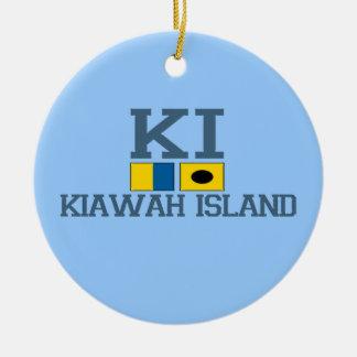 Kiawah Island. Ornamento De Cerâmica Redondo