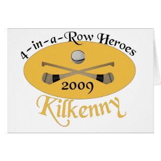 Kilkenny 4 em seguido comemorativo cartão comemorativo