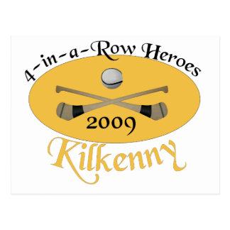 Kilkenny 4 em seguido comemorativo cartão postal