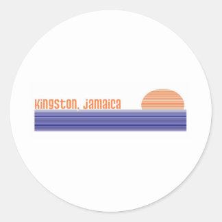 Kingston, Jamaica Adesivos Redondos
