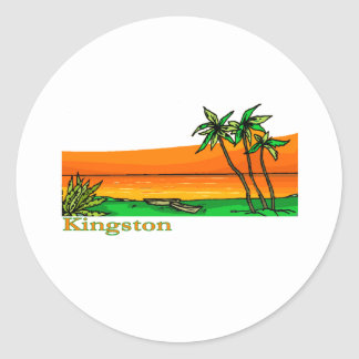 Kingston, Jamaica Adesivo Em Formato Redondo
