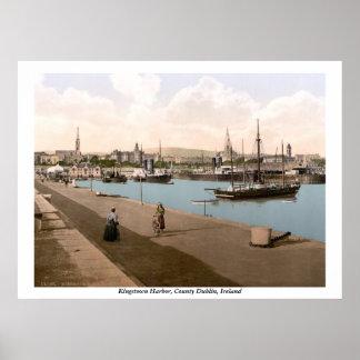 Kingstown - porto de DunLaoghaire, Co. Dublin Poster