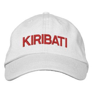 Kiribati* personalizou o chapéu boné bordado
