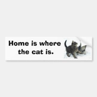 kittenjanuary, Home é onde o gato está Adesivo Para Carro