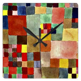 Klee: Flora na areia Relógio Quadrado