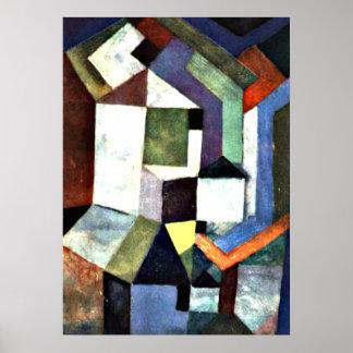 Klee: Paisagem do norte falso Poster