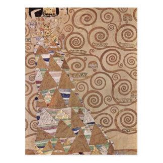 Klimt, Gustavo Entwurf f? antro Wandfries im Palai Cartao Postal