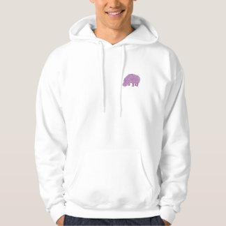 Knotty Hippo - back Moletom Com Capuz