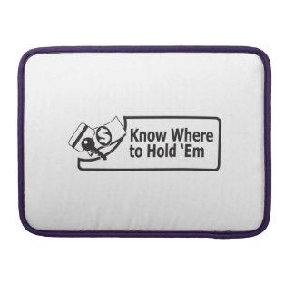 "Knowwheretoholdem Macbook pro 13"" Bolsa Para MacBook"