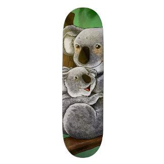 Koala bonito e bebê shape de skate 21,6cm