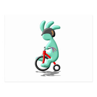 Kokopelli caçoa o triciclo cartão postal