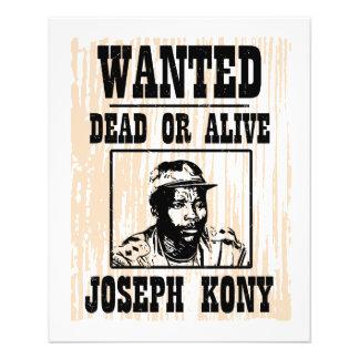Kony Joseph 2012 Kony quis o poster Flyer 11.43 X 14.22cm