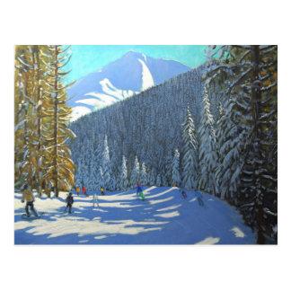 La Clusaz 2012 de Beauregard do esqui Cartão Postal