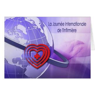 La Journée internationale de l´Infirmière. Cartão