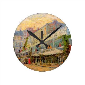 La Sirene do restaurante de Van Gogh, Asnieres, Relógios Para Pendurar