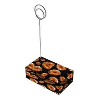 Lábios abstratos da laranja suporte para cartões de mesa