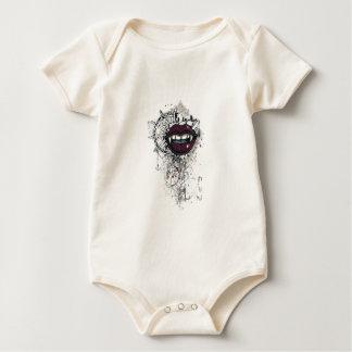 lábios de dracula do vintage macacãozinhos para bebê