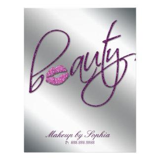 Lábios do brilho do rosa do insecto da beleza da c modelo de panfleto