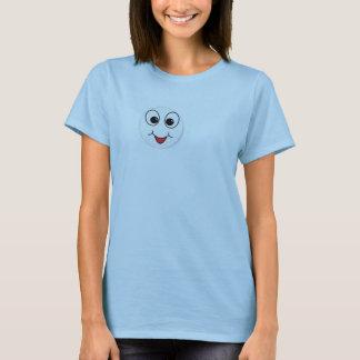Lábios e olhos do smiley camiseta