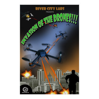 Laboratórios da cidade do rio: Ataque dos zangões Pôsteres