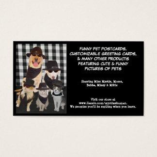 Laboratórios dos azuis de Myrtie & gatos legal Cartão De Visitas
