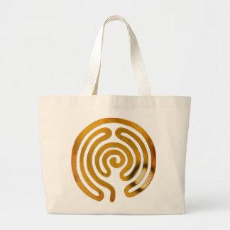 labyrinth antique de ouro sacola tote jumbo