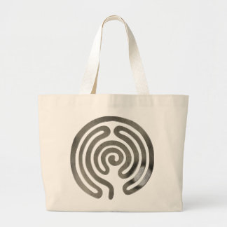 labyrinth antique silver sacola tote jumbo