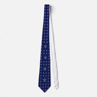 Laço azul & de prata celta do dia dos pais da flor gravata