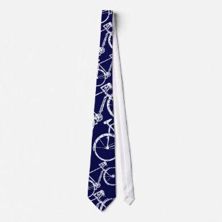 laço azul do ciclo para bicicleta-amantes gravata