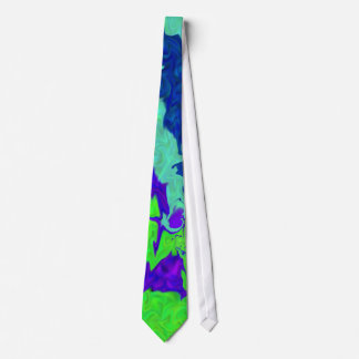 Laço azul verde dos redemoinhos do roxo gravata