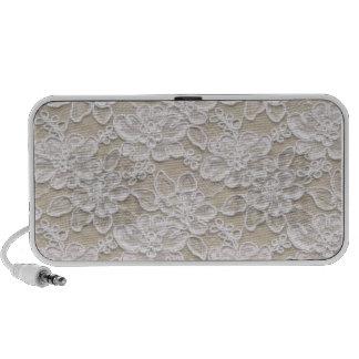 Laço branco bonito caixinhas de som portátil