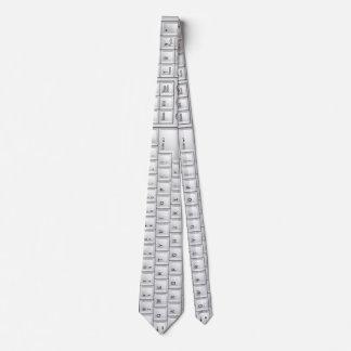 Laço branco do geek do teclado do computador gravata