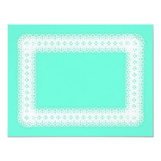 Laço branco no verde limão - DIY Convite 10.79 X 13.97cm