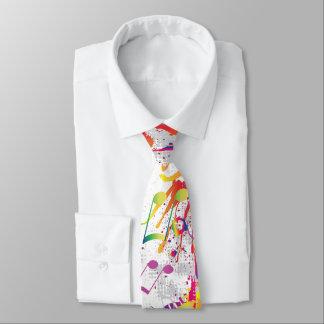 Laço brilhante colorido animador das notas da gravata